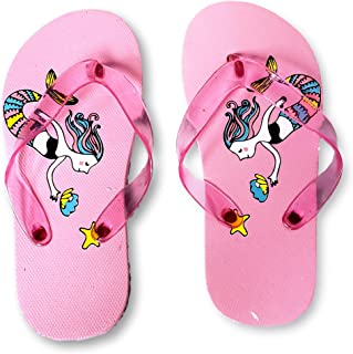 6588bc22f Jelly Thong Style Mermaid Themed Flip Flop Sandals for Young Girls Kids