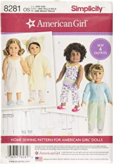 Simplicity 8281 American Girl Doll Clothes Outfit Sewing Patterns for 18'' Dolls
