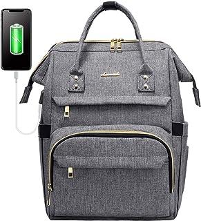 LOVEVOOK Laptop Rucksack Damen 13 14 Zoll, wasserdichte Rucksäcke Schule mit USB Ladeanschluss, Rechteckig Schultasche Sch...
