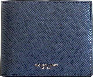Michael Kors Men's Harrison, Billfold With Passcase Wallet, Saffiano Leather - Indigo Blue