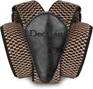 Decalen Mens Braces with Very Strong Metal Clips Wide 4 cm 1.5 inch Heavy Duty Suspenders One Size Fits All Men and Women ...
