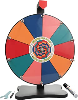 Whirl of Fun Spinning Prize Wheel 12 Inch-Tabletop with Stand, 10 Color Slots, Customize Erasable Whiteboard Surface, Trop...