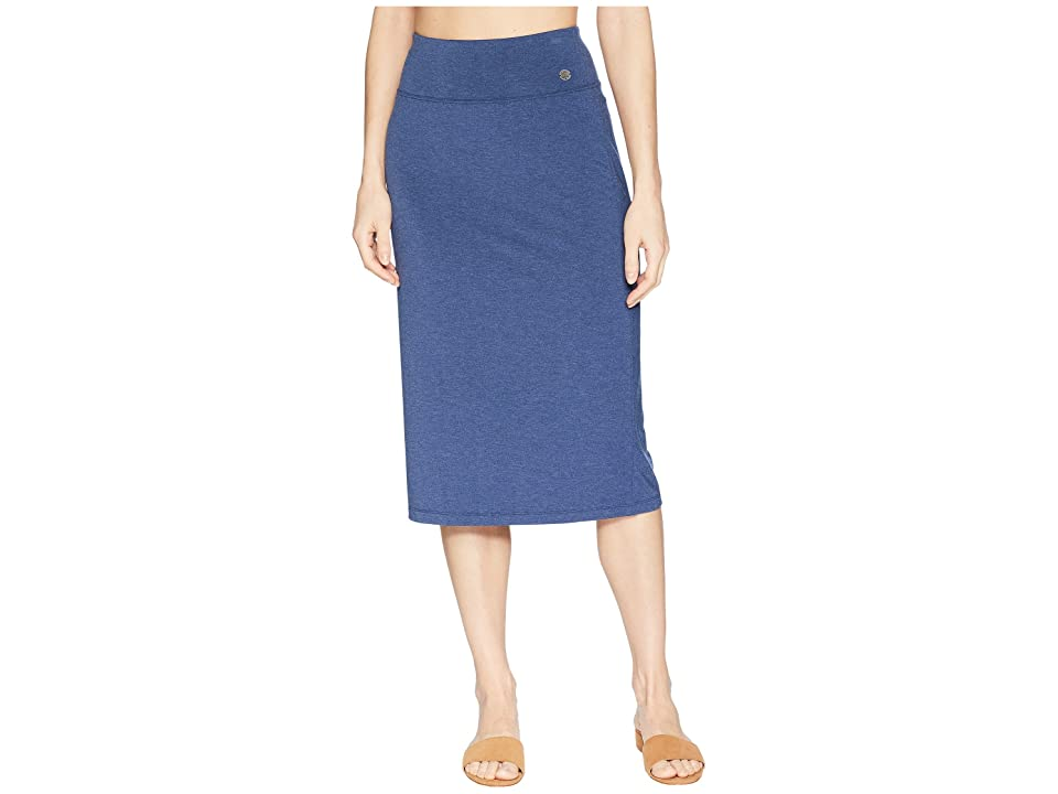 Life is Good Supreme Midi Skirt (Darkest Blue) Women
