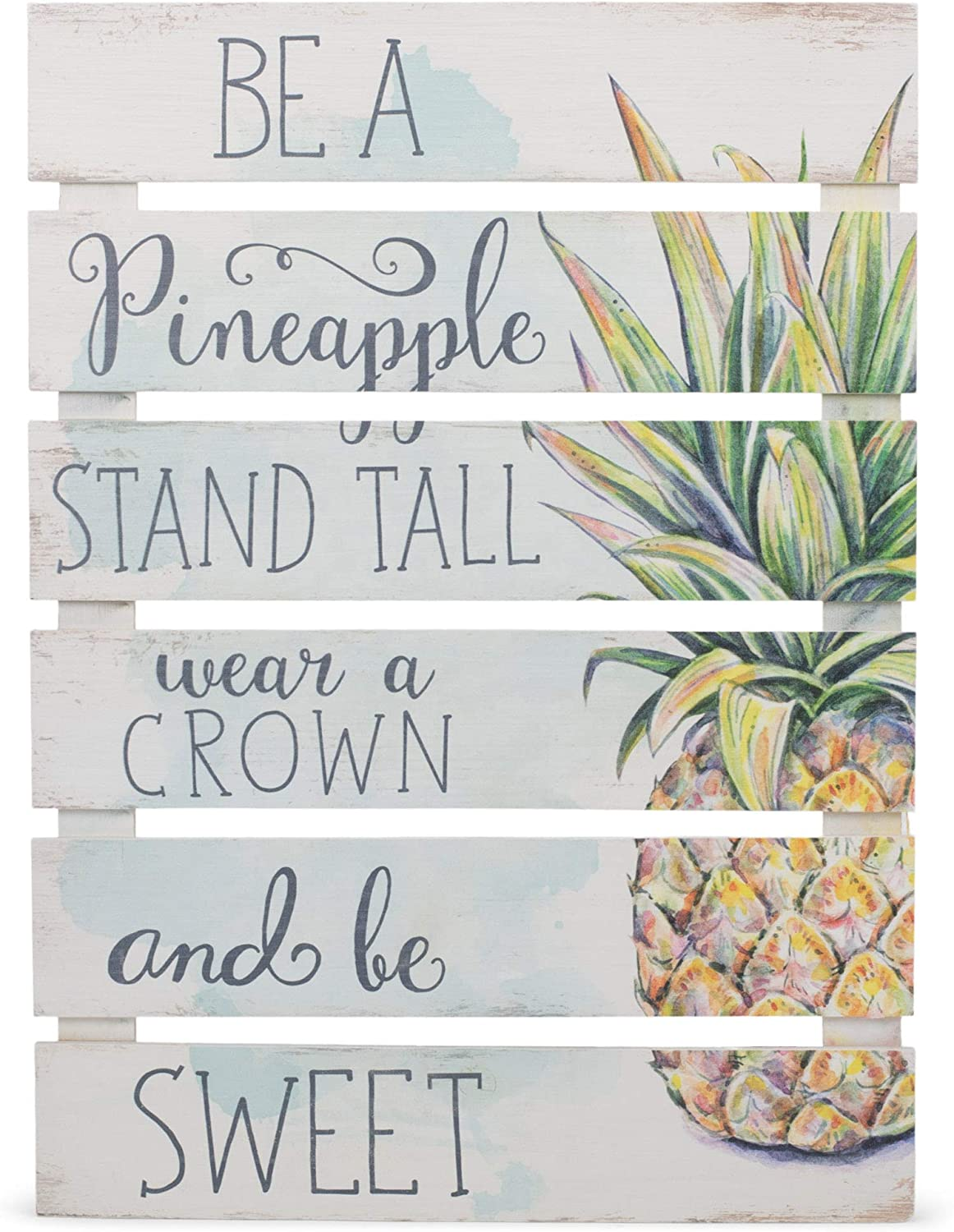 P. Graham Dunn Be Pineapple Wear 2021new shipping free shipping Crown White Sweet 23.5 x 17 El Paso Mall