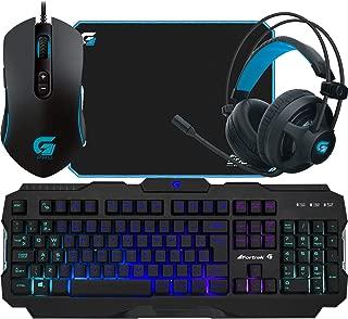 Kit Gamer FPS Teclado Anti-ghosting K3 Mouse Fortrek M7 Mouse Pad Gamer Speed Headset Stereo H2