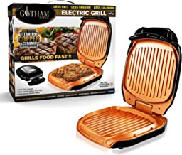 Gotham Steel 2053 Low Fat Multipurpose Sandwich Grill Nonstick Copper Coating – As Seen on TV, Large, Black
