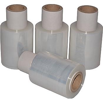 Stretchfolie Transparent 100 mm Wickelfolie 40 Rollen Verpackungsfolie Palettenfolie 20my Top Qualit/ät