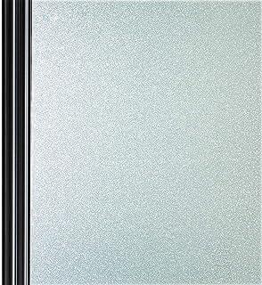 窓目隠しシート 窓用ガラスフィルム すりガラス調 断熱 紫外線カット 防虫忌避 飛散防止 接着剤なし簡単に水で貼る 貼り直し可能 艶消し白い色 幅90cm*3メートル