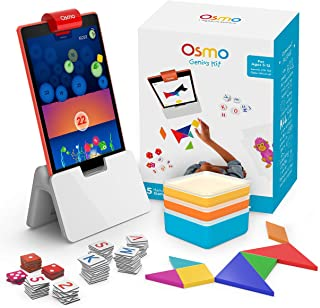 Osmo - Genius Kit for Fire Tablet - 5 Hands-On Learning Games - Ages 5-12 - Problem Solving & Creativity - STEM - (Osmo Fire Tablet Base Included - Amazon Exclusive)