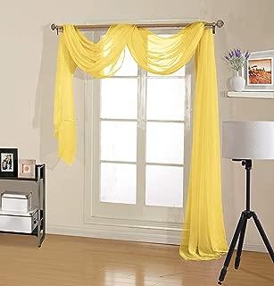 Amazon.com: Yellow - Valences / Draperies & Curtains: Home ...