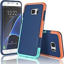 Galaxy S7 Edge Case, TILL(TM) Ultra Slim 3 Color Hybrid Impact Shockproof Anti-Slip Rugged Back Cover Soft TPU Hard PC Bum...