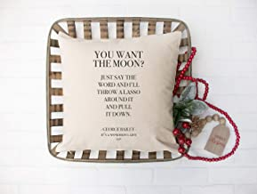 Dortwhu It's A Wonderful Life Lasso The Moon 18x18 Pillow Cover, Christmas Holiday Movie Quote, George Bailey, George Lassos The Moon, Cotton Linen Pillow Cover