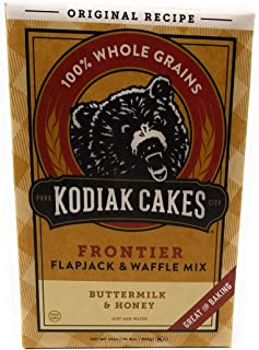 Kodiak Cakes All Natural Frontier Pancake, Flapjack and Waffle Mix, Butter Milk and Honey, 24 Ounce (Pack of 3)