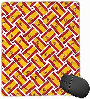 Alfombrilla de ratón España Bandera Tejido Gaming Alfombrilla de ratón Alfombrilla de ratón Diseño Personalizado Antideslizante 25 x 30 x 0.3 CM
