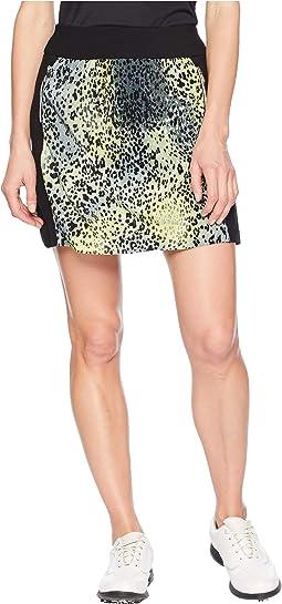 Leopard Print Crunchy Pull-On Skort