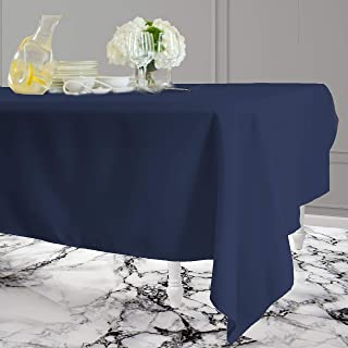 Kadut Rectangle Tablecloth (60 x 126 Inch) Rectangular Table Cloth for 8 Foot Table | Heavy Duty Washable Table Cloth for Dinner, Parties, Weddings, | Wrinkle-Resistant Dining Table Cover | Navy Blue