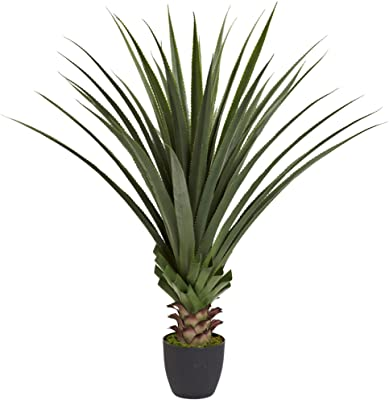 Nearly Natural 4' Spiked Agave Plant, Green