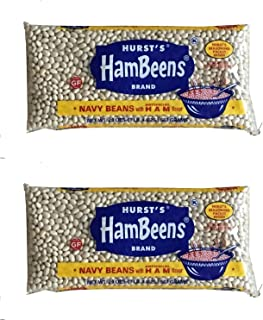 Hursts HamBeens Brand: Navy Beans with Ham Flavor (Pack of 2) 20 oz Bags