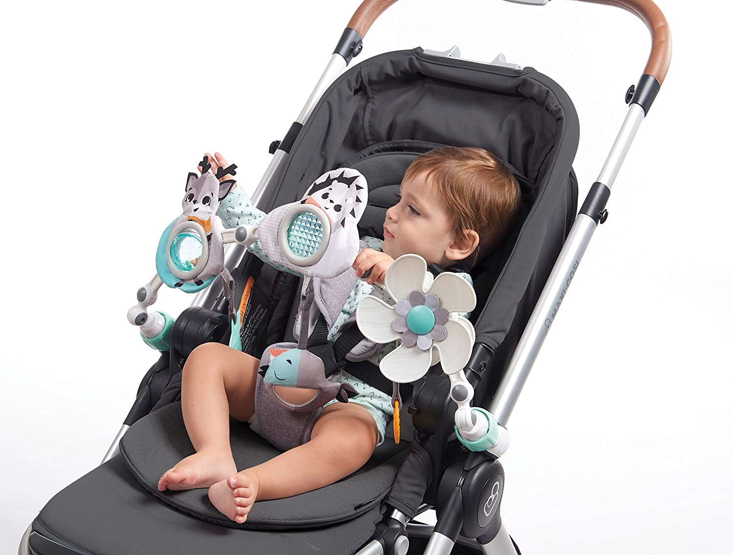 Tiny Love Black & White Sunny Stroll Stroller Arch, Magical Tales