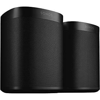 Two Room Set with Sonos One (Gen 2) - Voice Controlled Smart Speaker with Amazon Alexa Built-In - Black