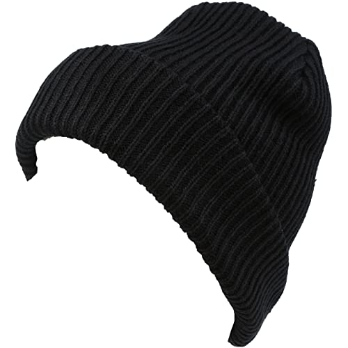 f1e788ee058 Sakkas Mig Solid Ribbed Knit Fold Over Unisex Long Tall Fit Fishermans  Beanie Hat