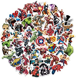 Marvel Avengers Stickers Pack(104 Pcs)Superhero Legends Stickers with Party Favors for Kids,Unique Cool Graffiti Waterproof Stickers for Laptops Water Bottles Notebook Guitar Skateboard Travel Adults