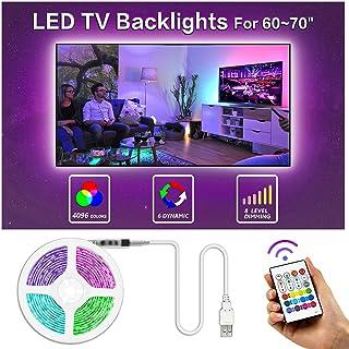 Bason TV LED Backlight, 13.09ft USB Led Lights Strip for 60-70 TV/Monitor Backlight, LED..