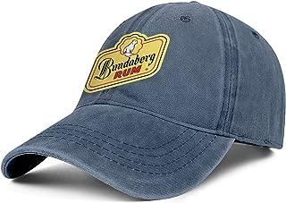 Bundaberg Rum Logo Men Cowboys Cap Adjustable Fits Youth Retro Flat Jeans Caps