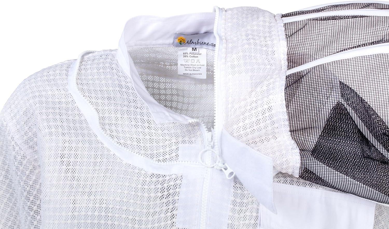 luftdurchl/ässig dreischichtig Gr/ö/ße:XS Almbiene Profi-Imker-Schutzjacke Air mit Schleier