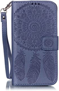 Galaxy J3 Wallet Case, Phone case for Samsung j3, JanCalm [Multi Card/Cash Slots] Flip Cover Wallet PU Leather with Stand + Wrist Strap Case for Samsung Galaxy J3 (2016) + Crystal Pen (Blue)