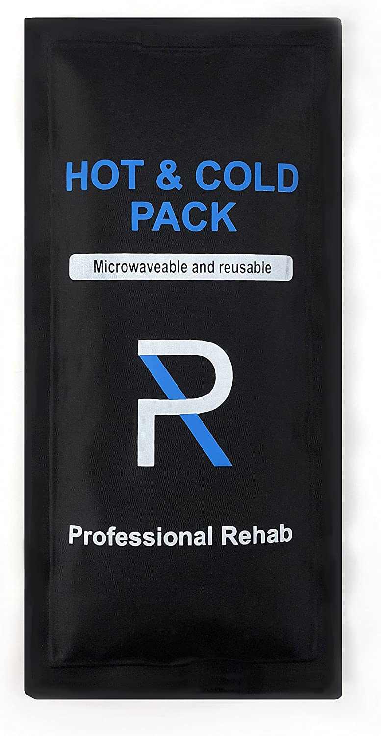 Professional Rehab Hot and Cold Reusable Gel Ice Pack - Ice Pack - Flexible - 10x5 - Therapy for Pain Relief - Back Pain