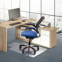 Basic Houseware Carpet Chair Mats/Chair Mat for Carpets | Low/Medium Pile Computer Chair Floor Protector for Office and Home 48 x 36