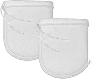 Aquatic Experts 4 Inch Drawstring Filter Socks 200 Micron - 4 Inch Opening by 8 Inch Long - Short Felt Filter Bags - Custo...