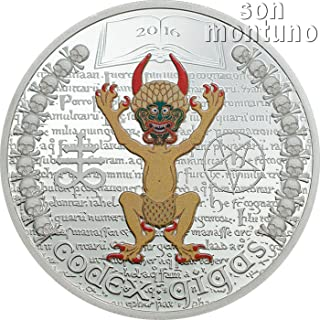 CODEX GIGAS - The Devil's Bible 1 Oz Silver Proof Coin in Box with Certificate of Authenticity
