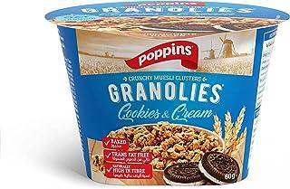 Poppins Muesli Granolies Cookies & Cream, 60 gm