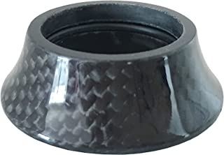 DEERU Bike Carbon Headset Washer MTB Bike, Road Bike, Carbon Cover Fork Taper Spacer -15 mm