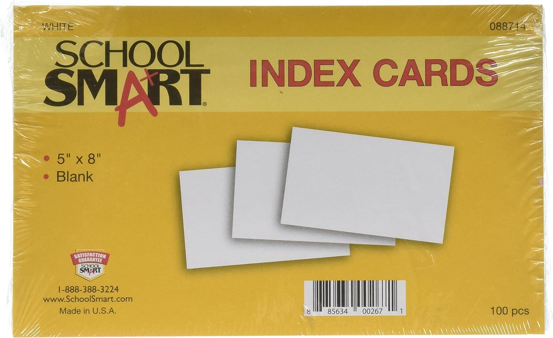 Schule smart Schwergewicht Uni Index Karten – 12,7 x 20,3 20,3 20,3 cm – 100 Stück – WEIß B003U6KW0E   Elegante und robuste Verpackung  b9fd4a