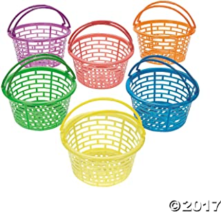 Fun Express Plastic Bright Round Baskets : Package of 12