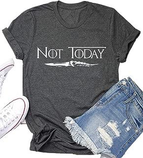 Not Today Game Thrones Shirt Women Teen Girls GOT TV Show Vintage T Shirt Merchandise Gifts Graphic Tops Tees