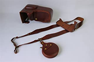 Zakao - Funda de Piel sintética para Cámara Canon EOS 550D 1100D 1200D 1300D 18-55 mm con Correa para el Hombro y Mini Bolsa
