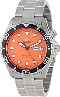 Men's EM6500AM Ray Automatic Stainless Steel Orange Dial Watch