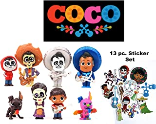 HIMEX BRANDS 8X Coco Cake Topper Figures Toy Set Miguel Hector Imelda Dante Ernesto Free Stickers Included