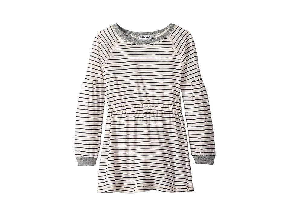 Splendid Littles Yarn-Dyed Long Sleeve Midi Dress (Toddler) (Pink Stripe) Girl