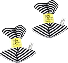 Baby Paper - 2 Pack of Crinkly Baby Toy - Black & White Stripe