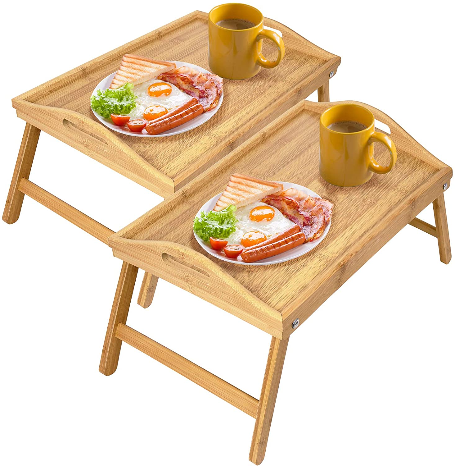 Greenco Bamboo Foldable Breakfast Laptop Servi Large discharge sale Bed Table Desk Year-end gift