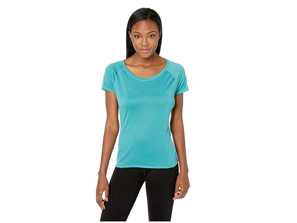 Prana Iselle Short Sleeve Tee (Lagoon Blue) Women