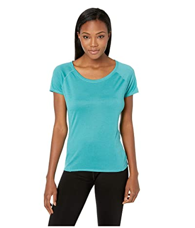 Prana Iselle Short Sleeve Tee (Lagoon Blue) Women