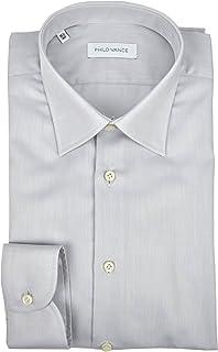 Philo Vance Elegante Camicia Uomo Bianca con Fazzoletto da Taschino Etienne