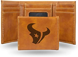 Rico Industries NFL Laser Engraved Tri-Fold Wallet, Brown
