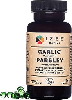Nutritional Gluten Free Odorless Garlic Parsley Non-GMO Supplement - 1000 mg Garlic and 200 mg Parsley per 2 Soft gels Sup...